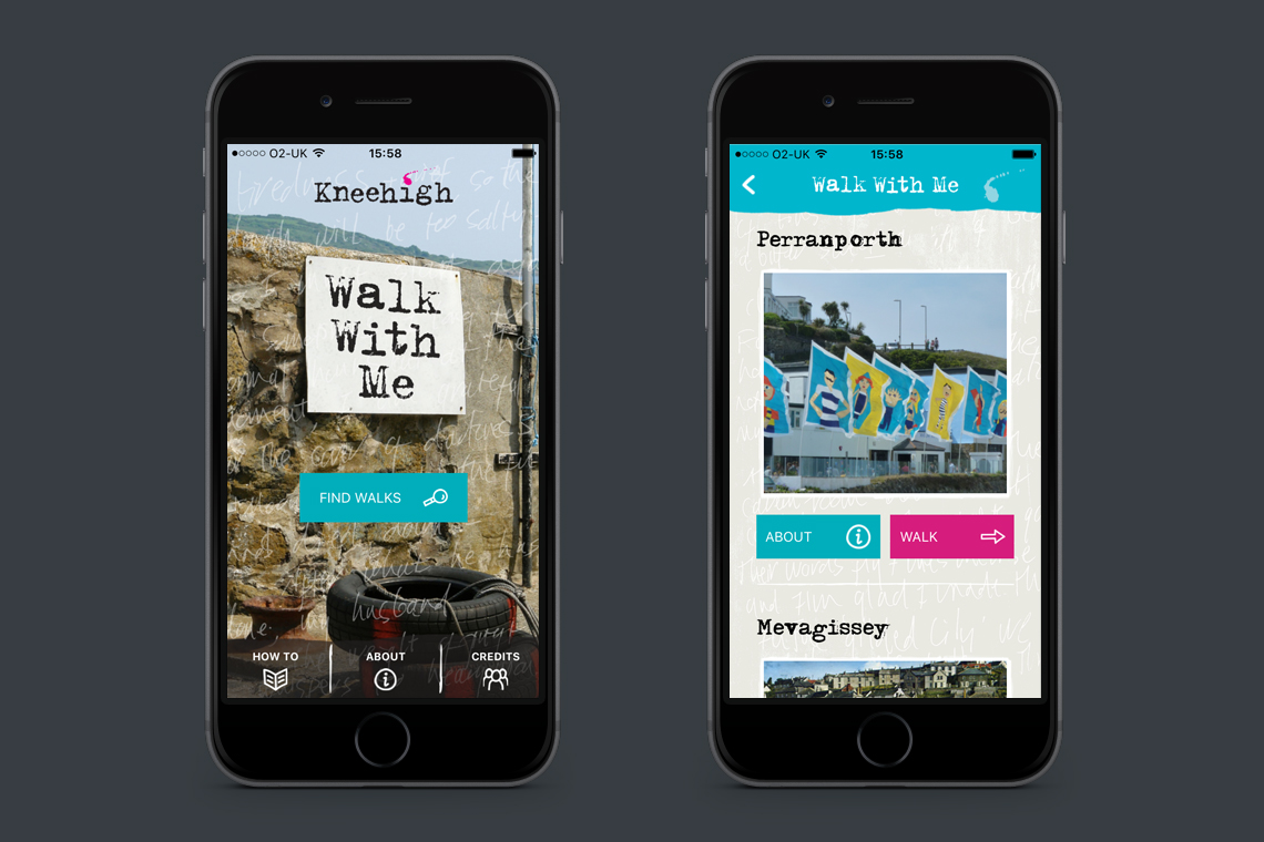Walk With Me app design