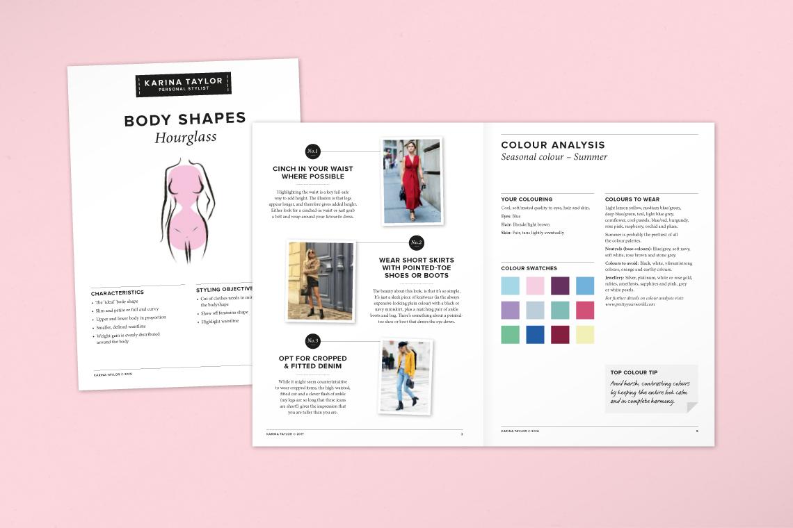 Karina Taylor Personal Stylist gift voucher design