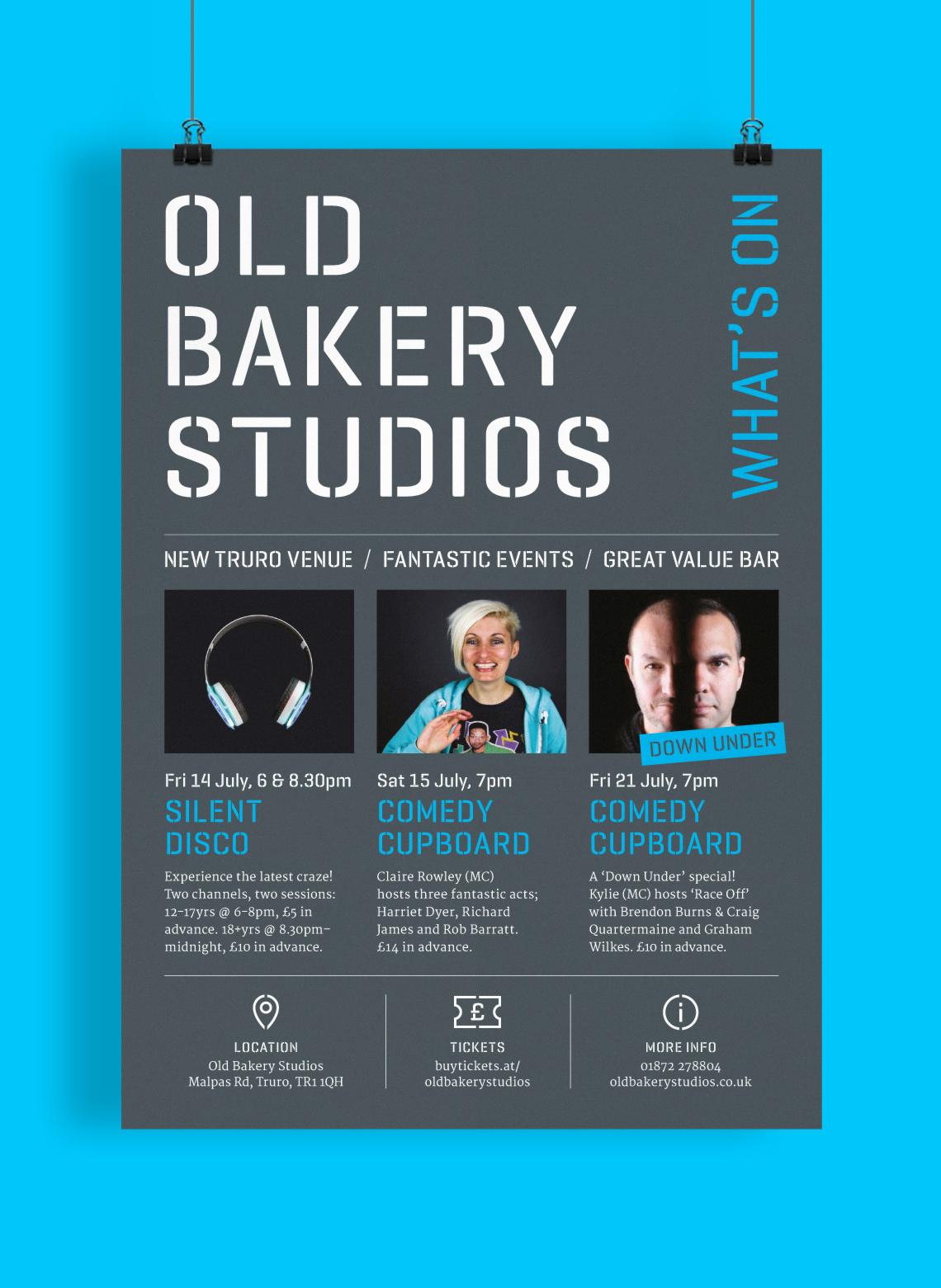 Old Bakery Studios poster design