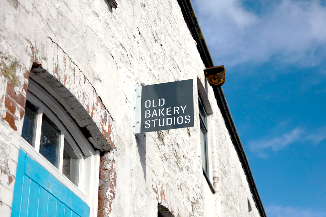 Old Bakery Studios signage design
