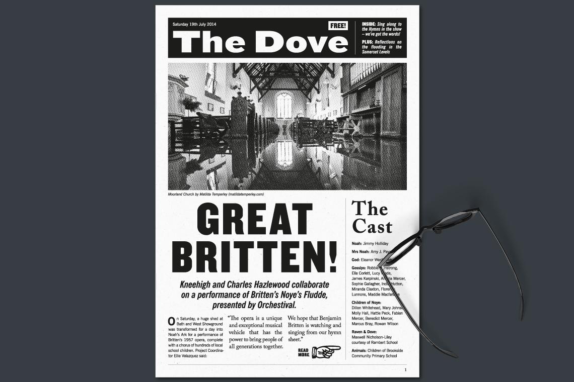 Noye's Fludde 'The Dove' programme design