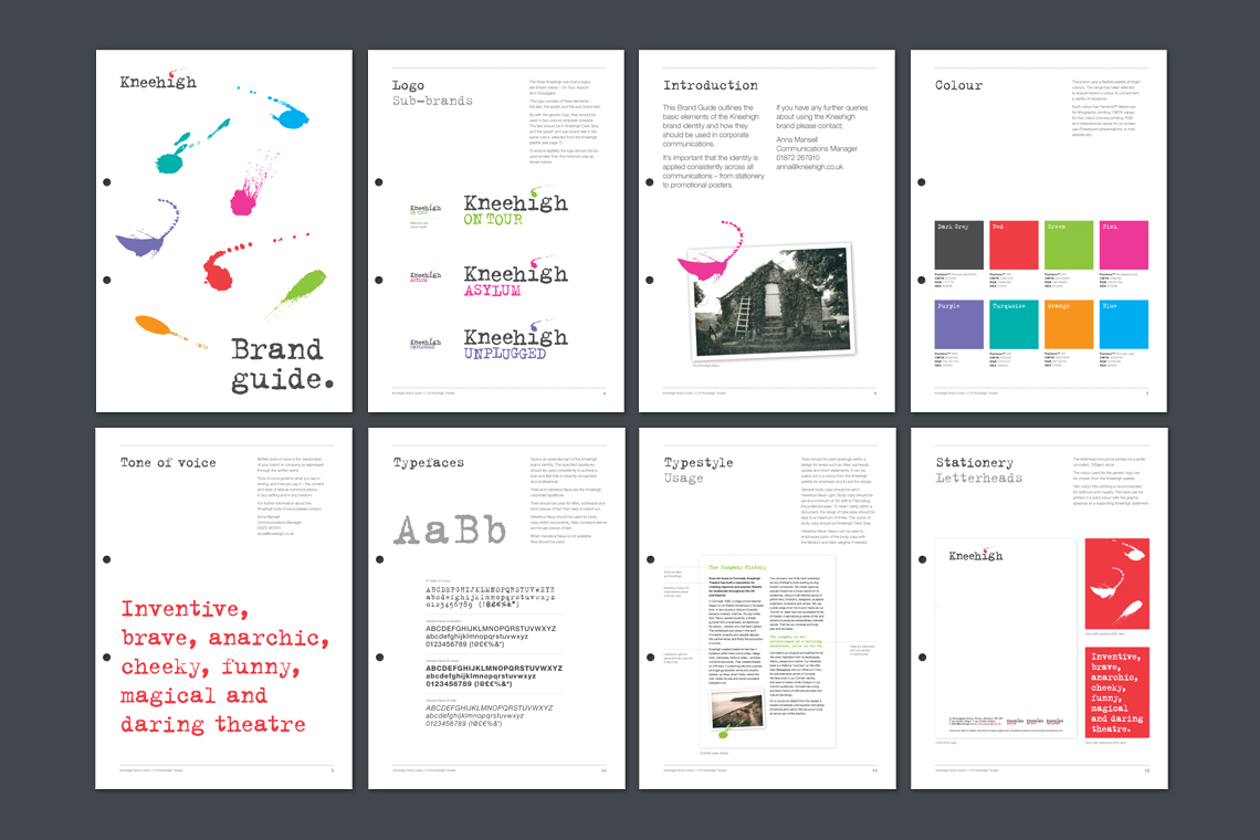 Kneehigh Theatre brand guidelines designs
