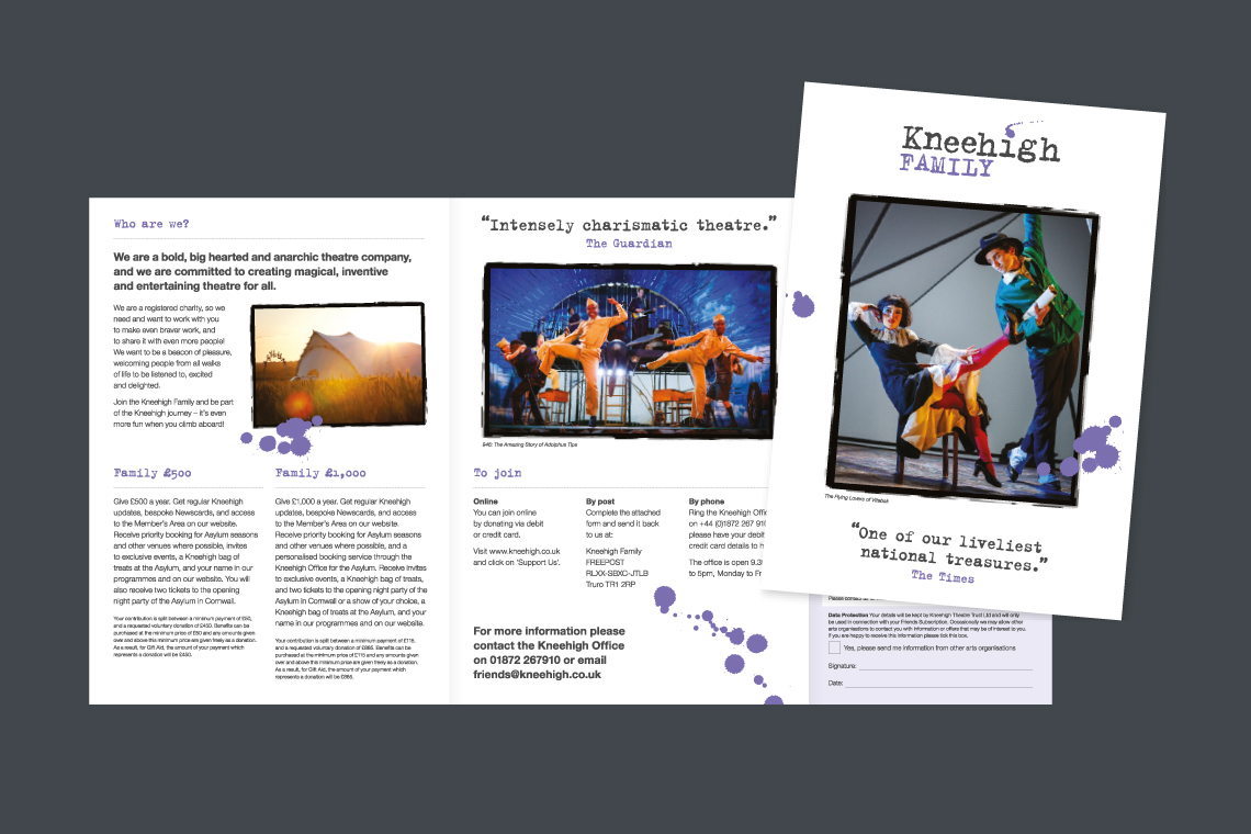Kneehigh Theatre leaflet design